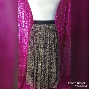 Leopard Tulle Midi Skirt